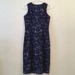💕Michael Kors Sleeveless Navy/Print Sheath Dress